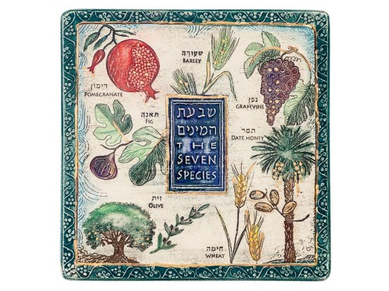Art in Clay Handmade Seven Species Jewish Blessing