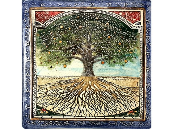 Art in Clay Handmade Tree of Life Jewish Blessing