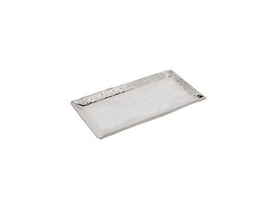 Yair Emanuel Extra Large Hammered Stainless Steel Rectangular Tray