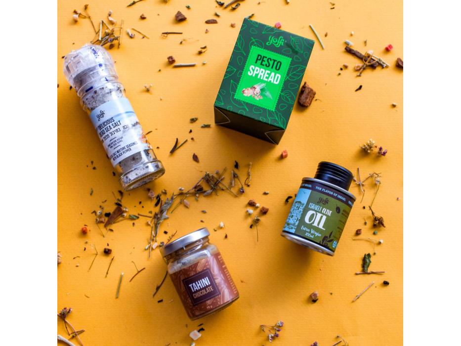 Taste of Israel Box with Olive Oil Pesto Spread