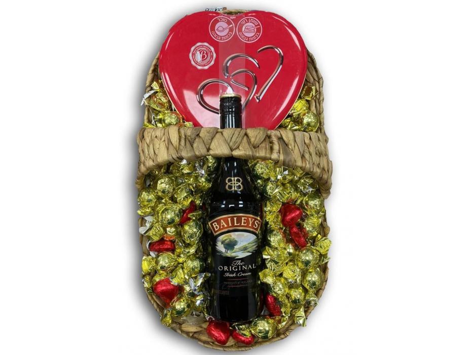 Golden Chocolate & Baileys Liqueur Gift Basket