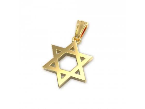Classic 14K Gold Star of David Necklace