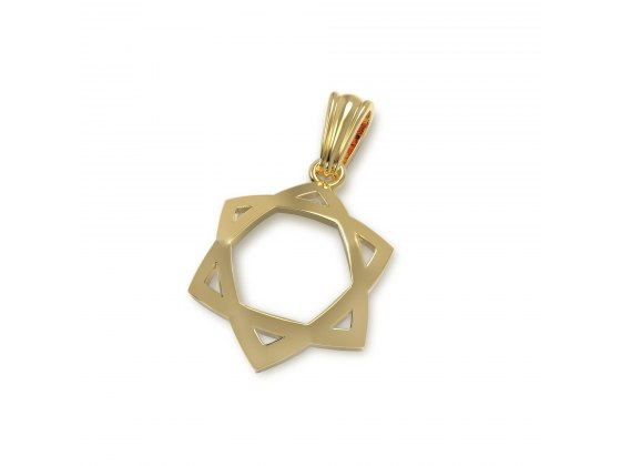Curved 14K Gold Star of David Necklace
