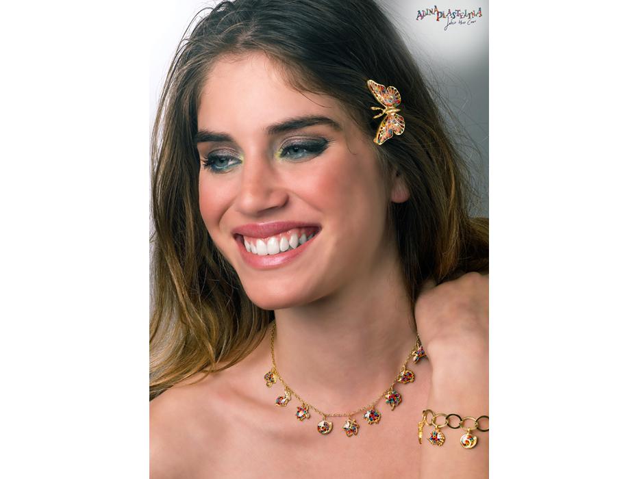 Adina Plastelina Nature Necklace Gold