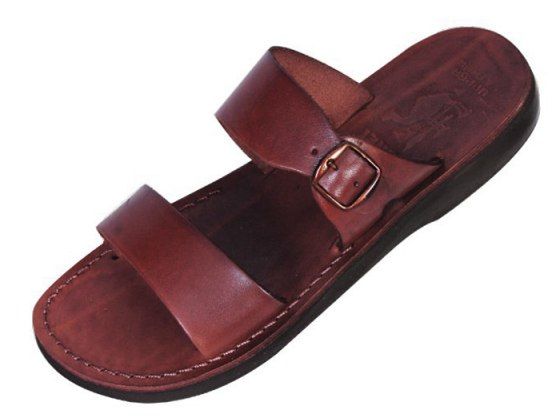 Adjustable Classic Strap Slip-on Leather Biblical Sandals - Daniel