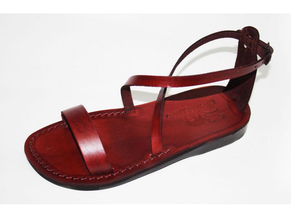 Adjustable crisscross strap handmade Leather Sandals - Eliana