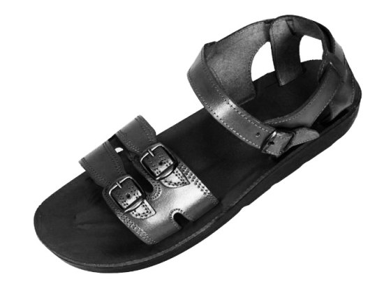 Adjustable Double Band Handmade Leather Biblical Sandals - Abraham