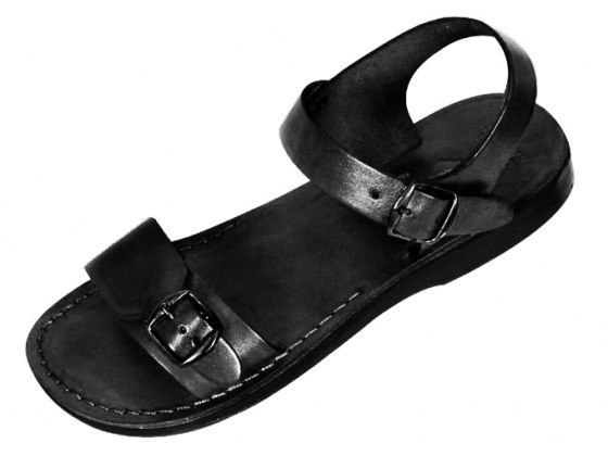Adjustable Single Strap Handmade Leather Biblical Sandals  -  Solomon