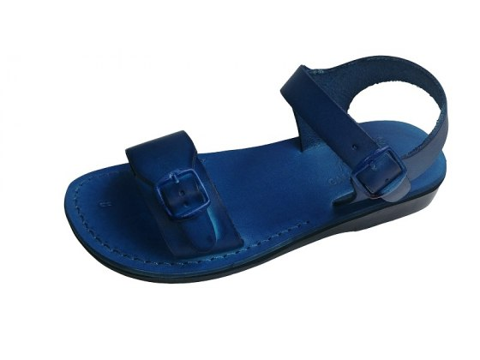 Solomon Leather Biblical Sandals Blue