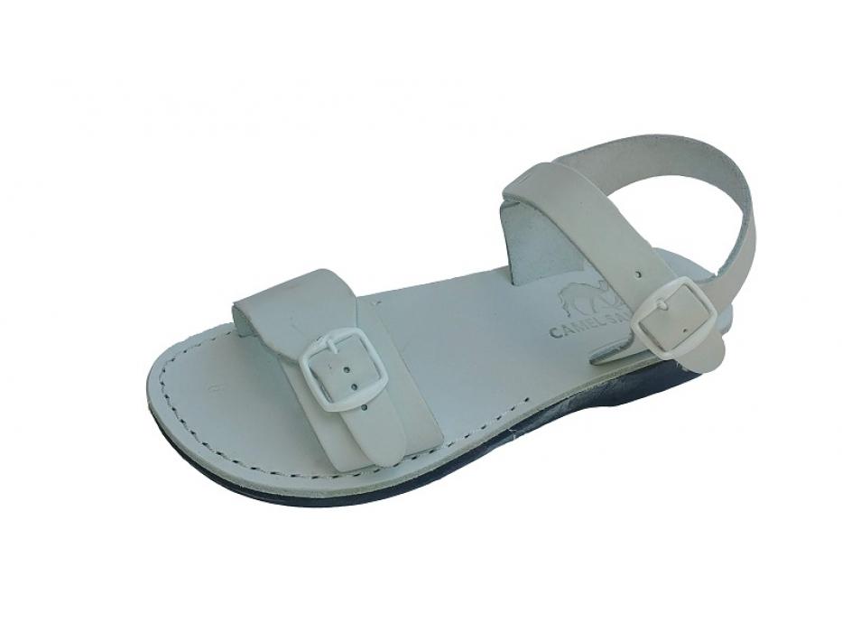 Solomon Leather Biblical Sandals White