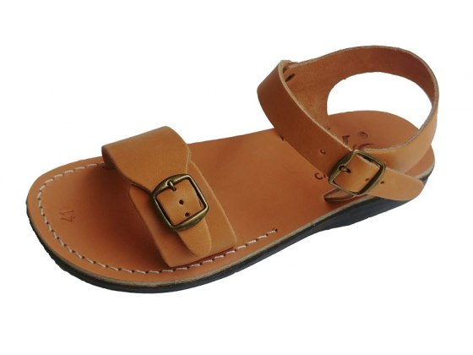 Solomon Leather Biblical Sandals Camel Tan
