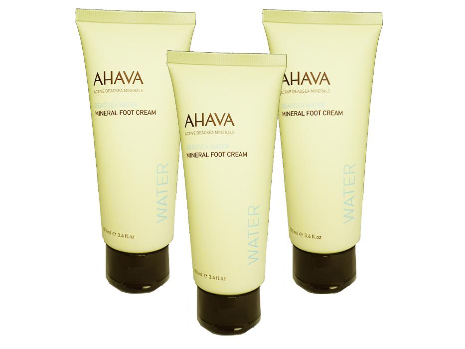 AHAVA Foot Cream - Set of 3 Super Saver Deal