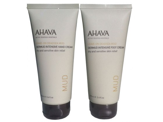 AHAVA Value Set Dermud Hand Cream and Foot Cream, Dead Sea Cosmetics