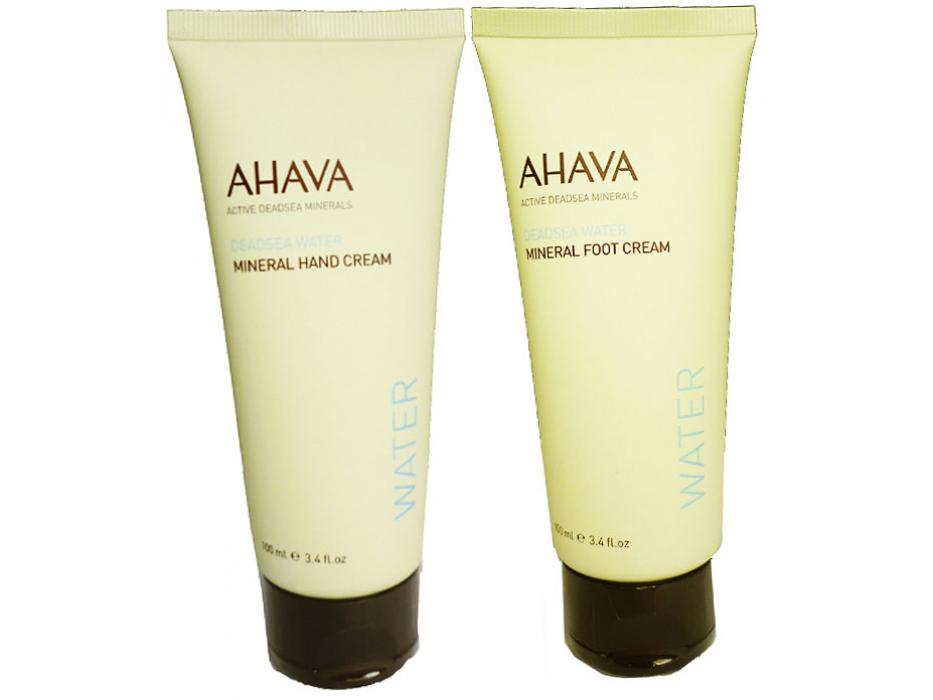 AHAVA Value Set Mineral Hand Cream and Foot Cream, Dead Sea Cosmetics