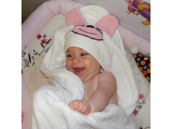 Animal Hooded 100% Cotton Baby Towel by Pinat Eden
