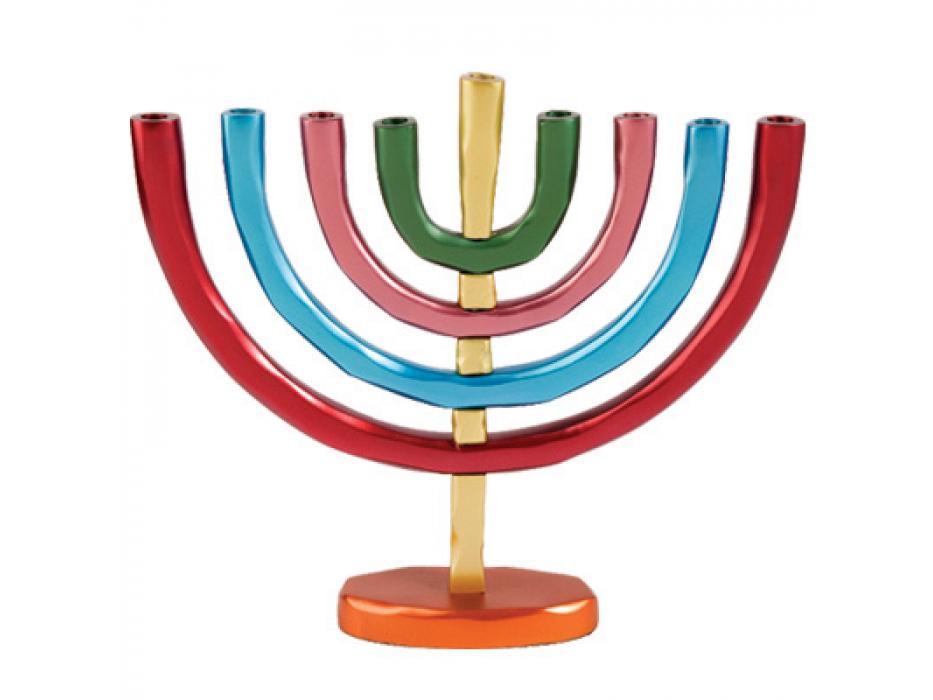 Yair Emanuel Anodized-Aluminum Hanukkah Menorah