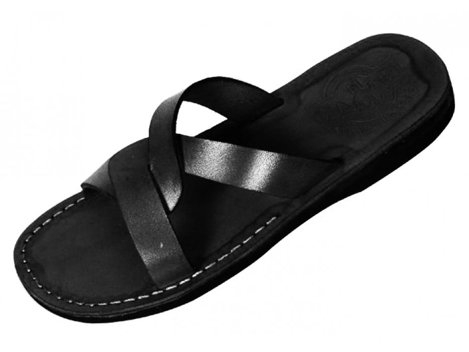 Basic Weave Design Slip-on Biblical Handmade Leather  Sandals - Samson