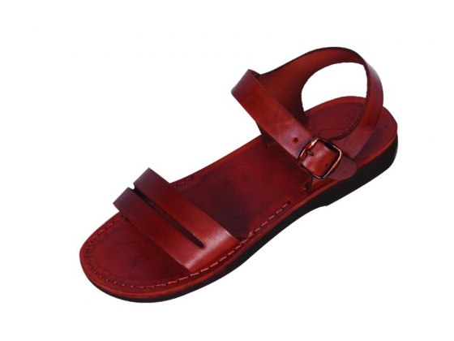 leather biblical sandal