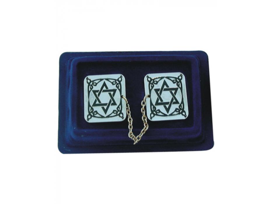 Blue and Gold Stripes Acrylic Tallit Prayer Shawl