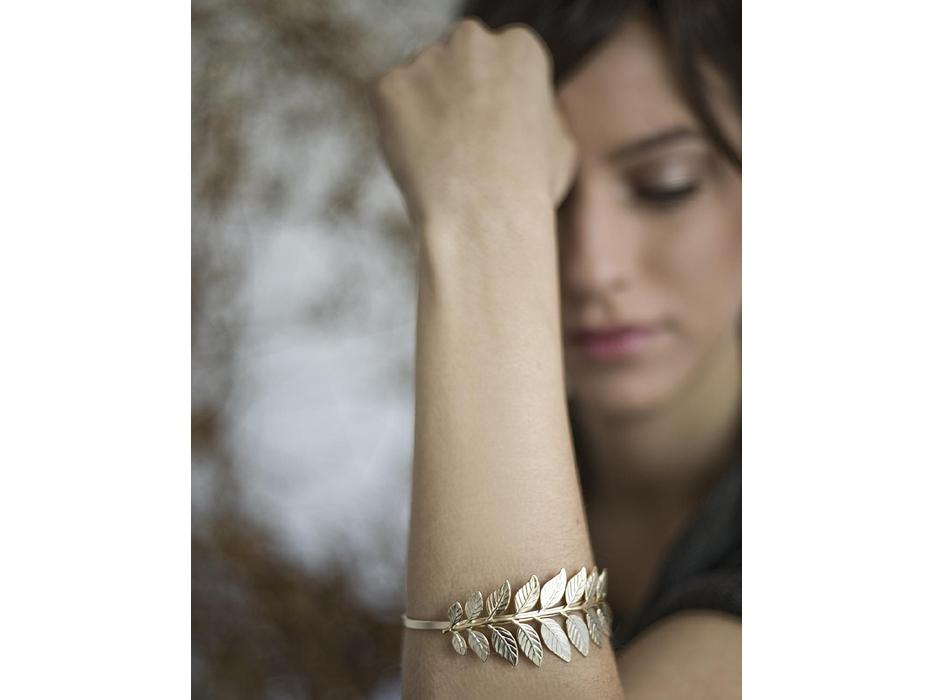 Botanical Branch Bracelet in Gold - Shlomit Ofir Jewelry