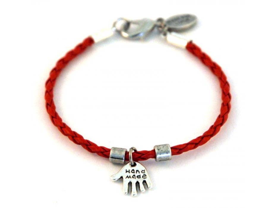 Red String Bracelet, Silver Hamsa pendant