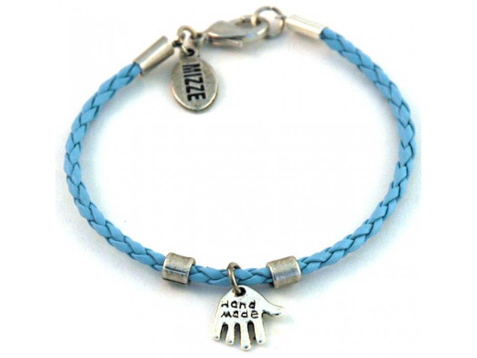 Silver bracelet Hamsa pendant