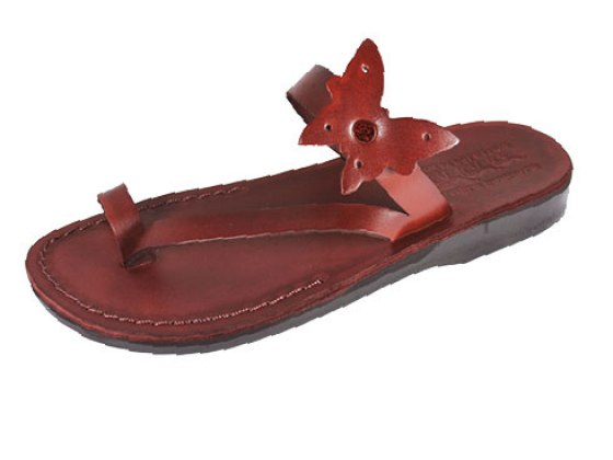 Leather Butterfly Flip-flop Biblical Sandals - Yael