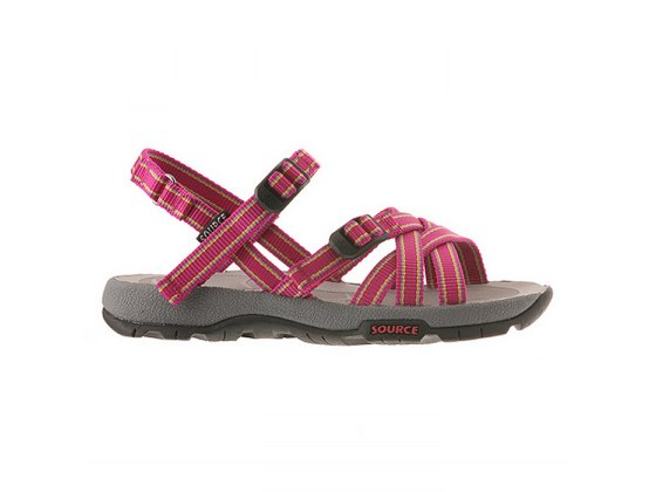 Capra X Girls Source Sandal, Side View Purple-Fuschia