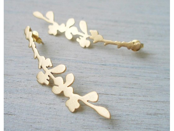 Cherry Blossom Post Earrings - Shlomit Ofir Jewelry