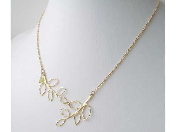 Chloe Necklace in Gold - Shlomit Ofir Jewelry