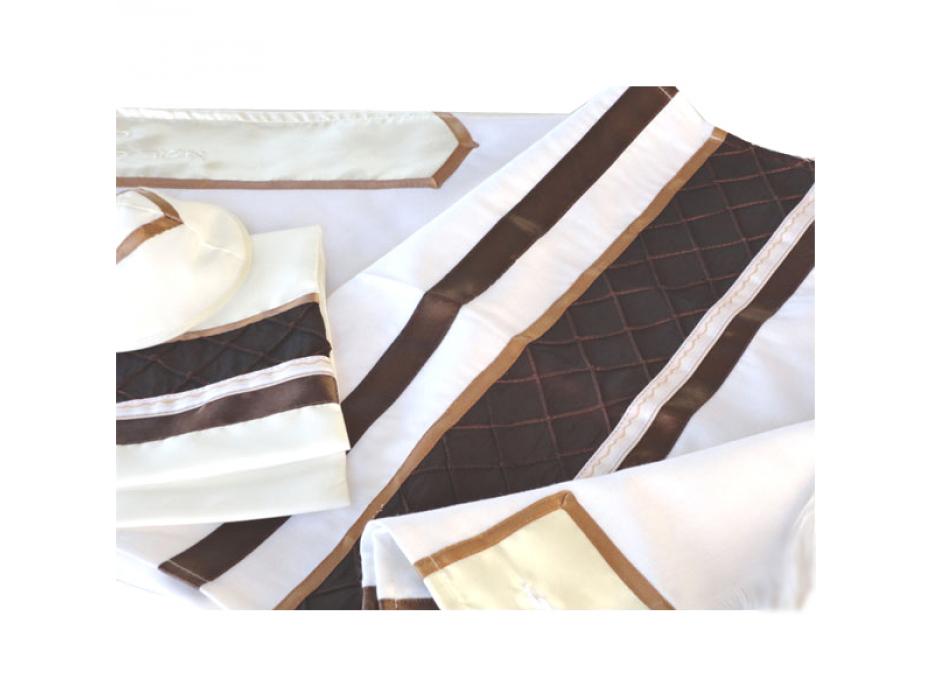 Chocolate Brown Tallit Prayer Shawl by Galilee Silks
