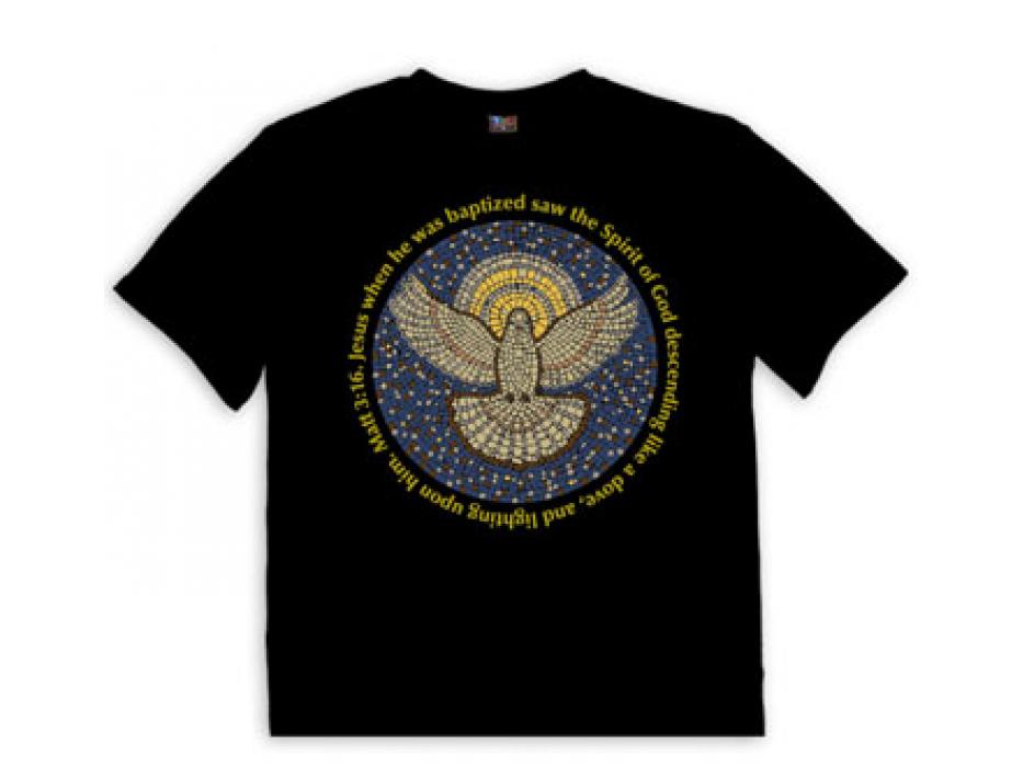 Christian T Shirt Dove Mosaic