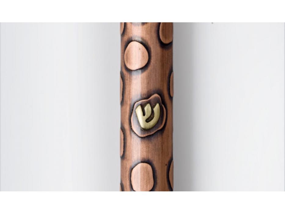 Circles Design, Handmade Copper Mezuzah Case