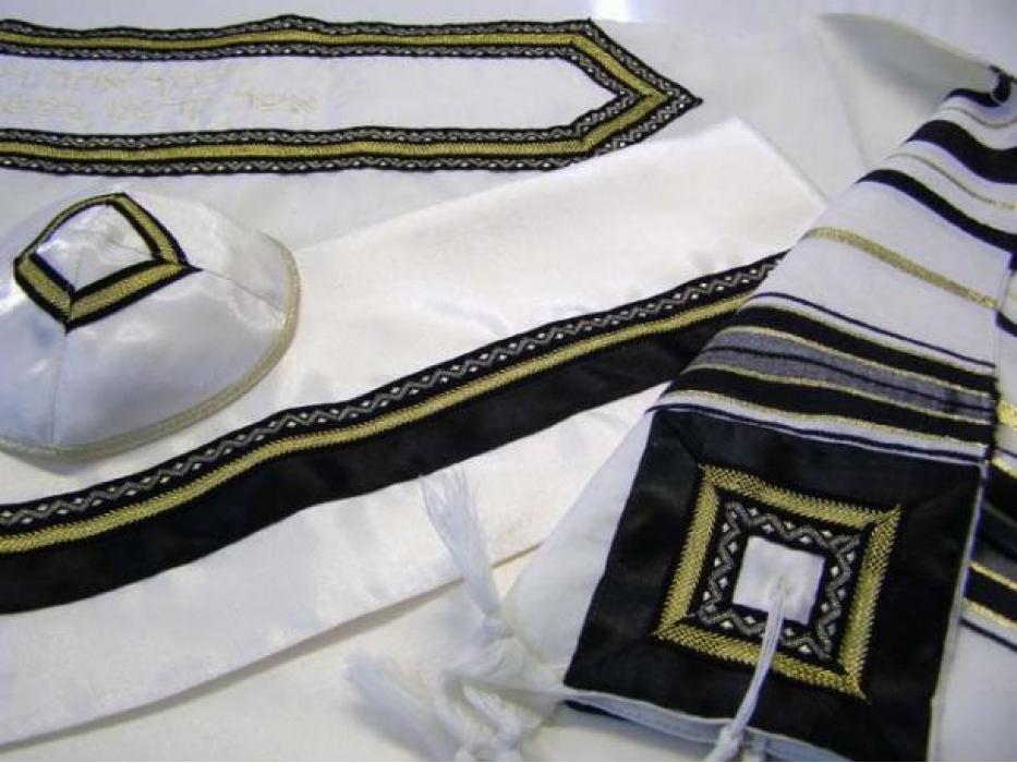 Classic Black and Gold,  Wool Tallit Prayer Shawl