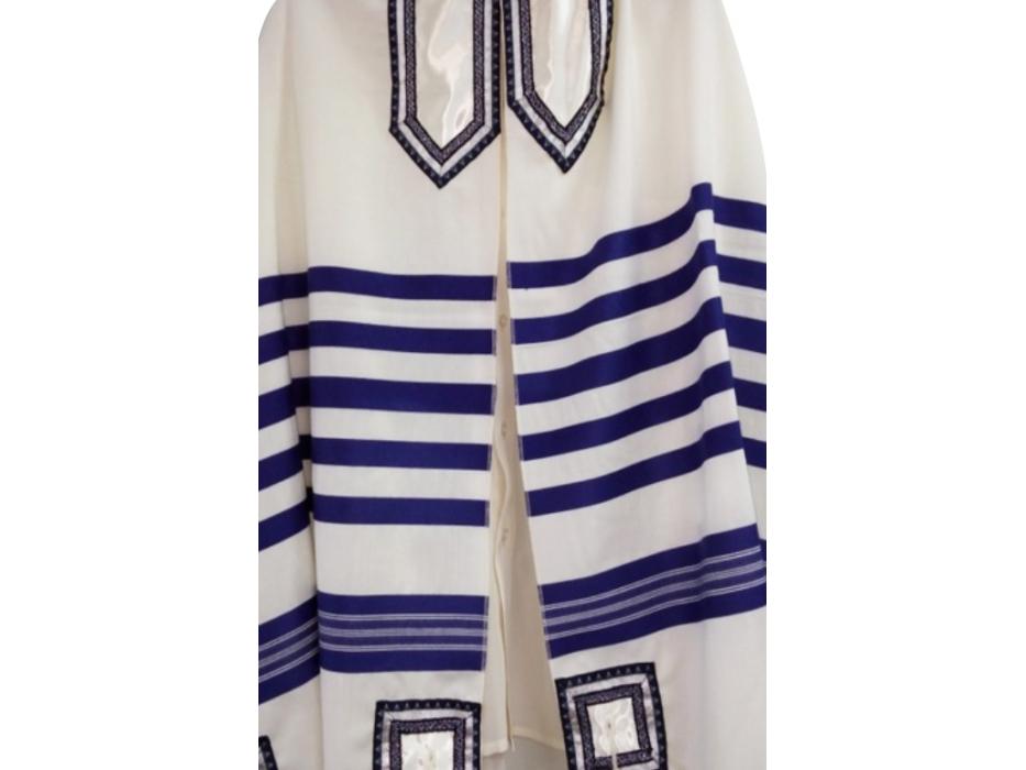 Galilee Silks Classic Blue and White Tallit Prayer Shawl