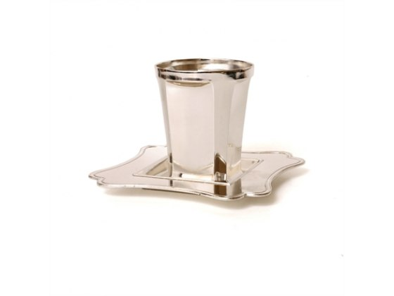 Classic Square Bottom Silver Plated, Kiddush Cup