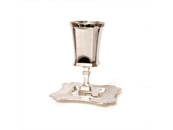 Classic Square Bottom Silver Plated, Kiddush Goblet