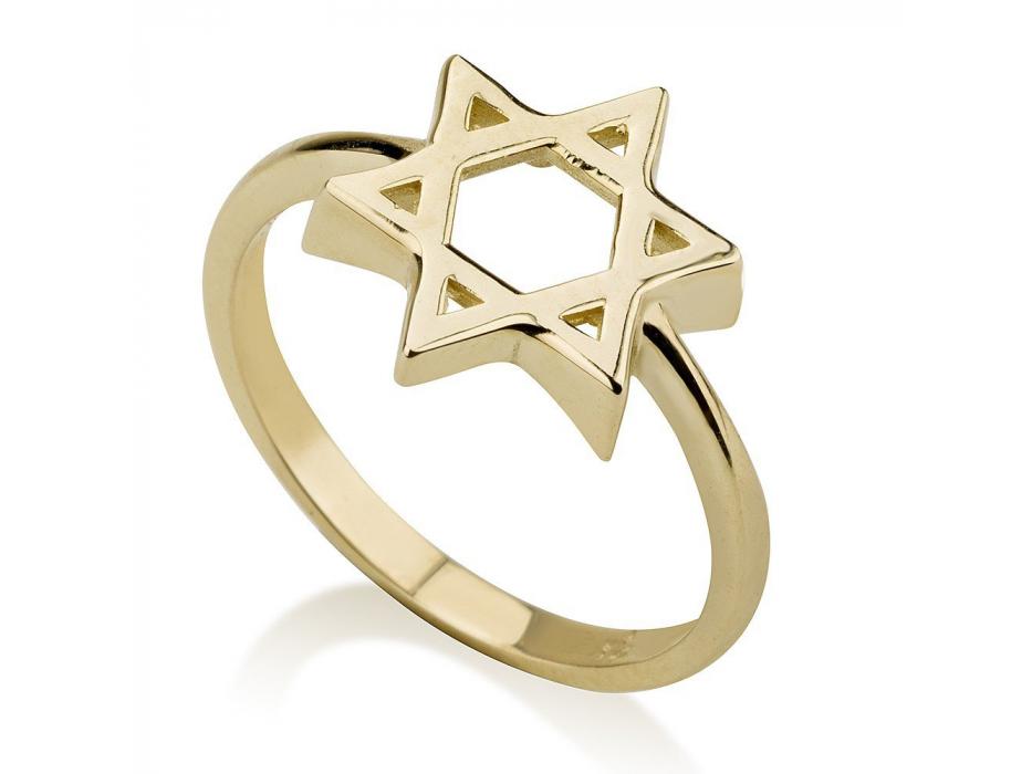 Classic Star of David 14K Gold Ring