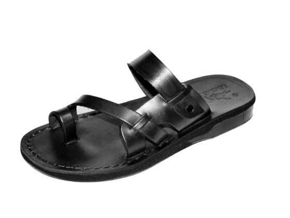 Classic Toe Stripe Flip Flop Handmade Leather Sandals - Tomer