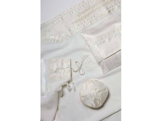 Classical All White Wool, Tallit