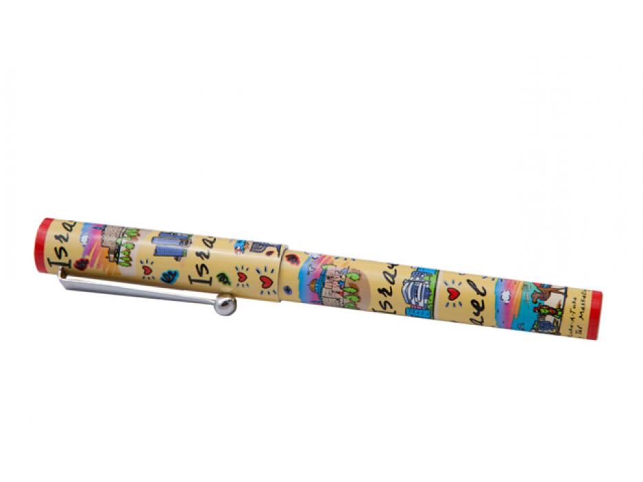 Colorful Israel Subway Clip Pen