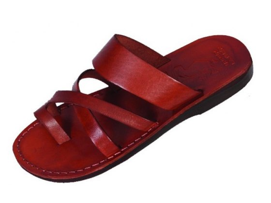 Comfortable Slip-on Genuine Handmade Leather Sandals - Shulamit