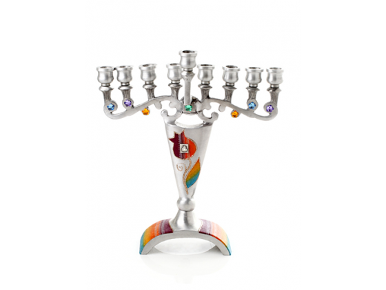 Conical Alumanium Hanukkah Menorah by Lily Art