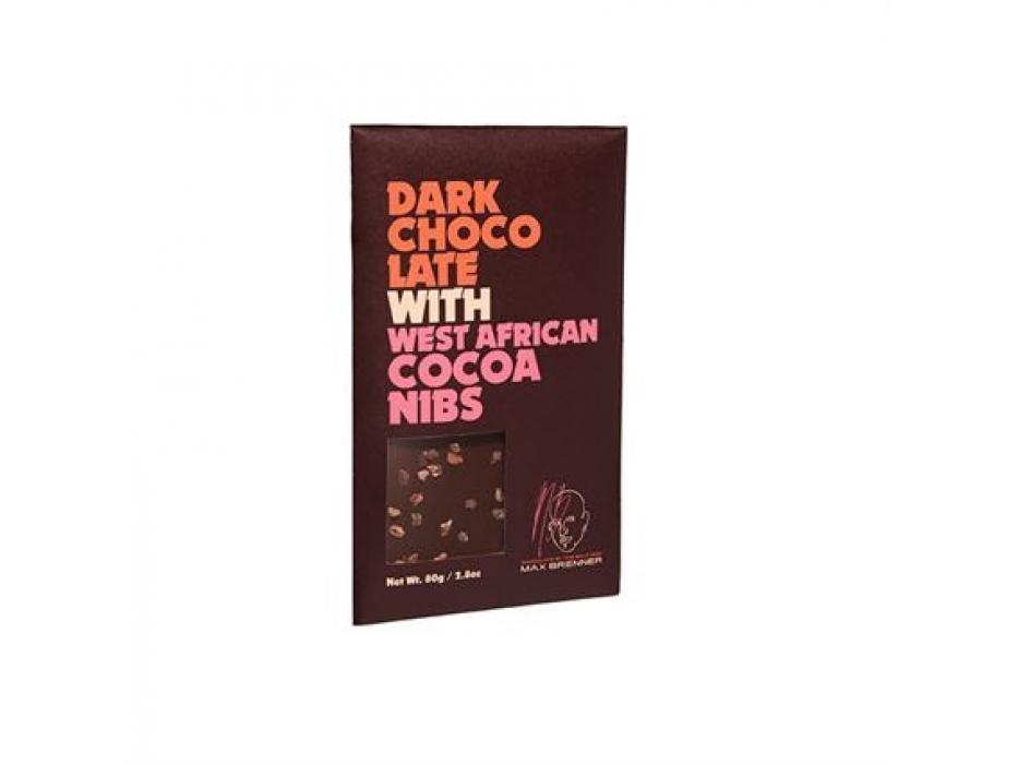 Dark chocolate with cocoa bins