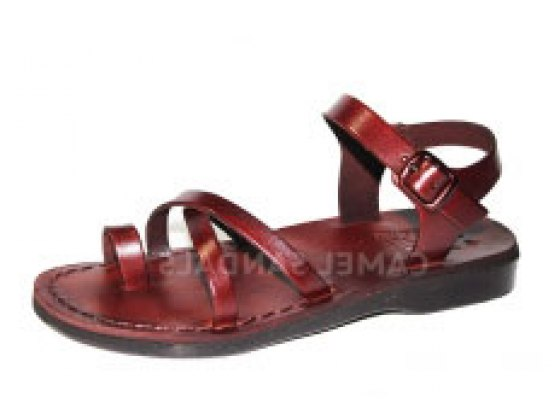 Crossover and Toe Straps Handmade Biblical Leather Sandals
