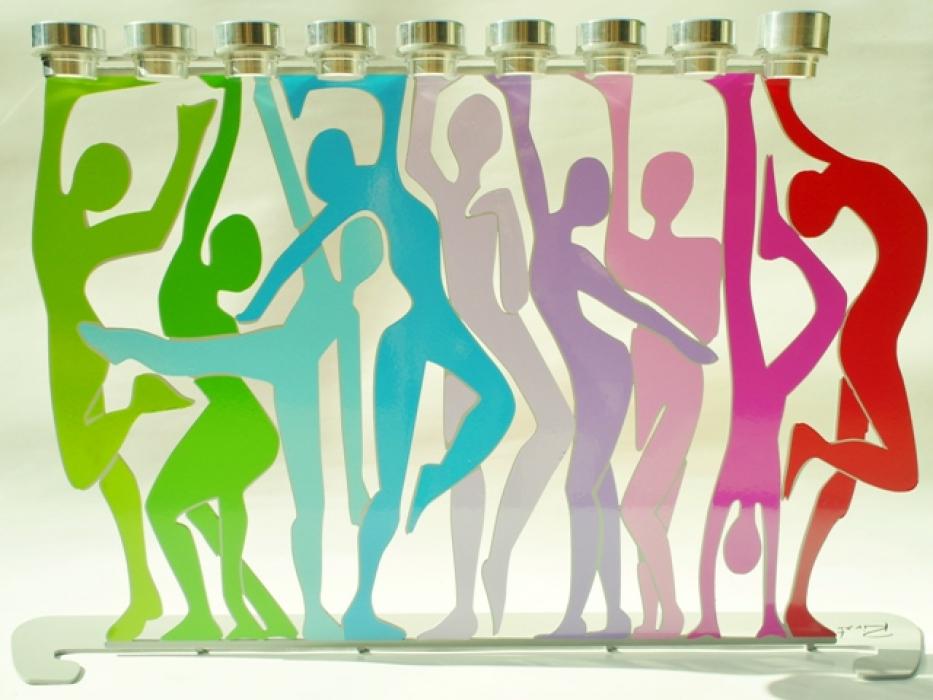 Dancers Design Hanukkah Menorah - Side A