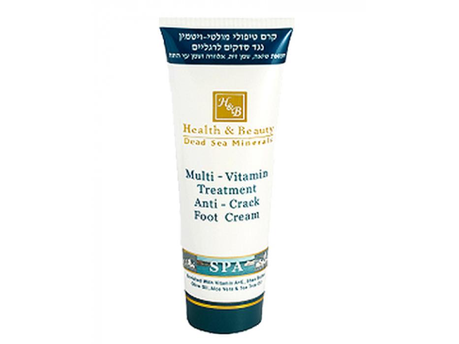 Dead Sea Minerals Anti-Crack Multi-Vitamin Foot Treatment, 250 ml