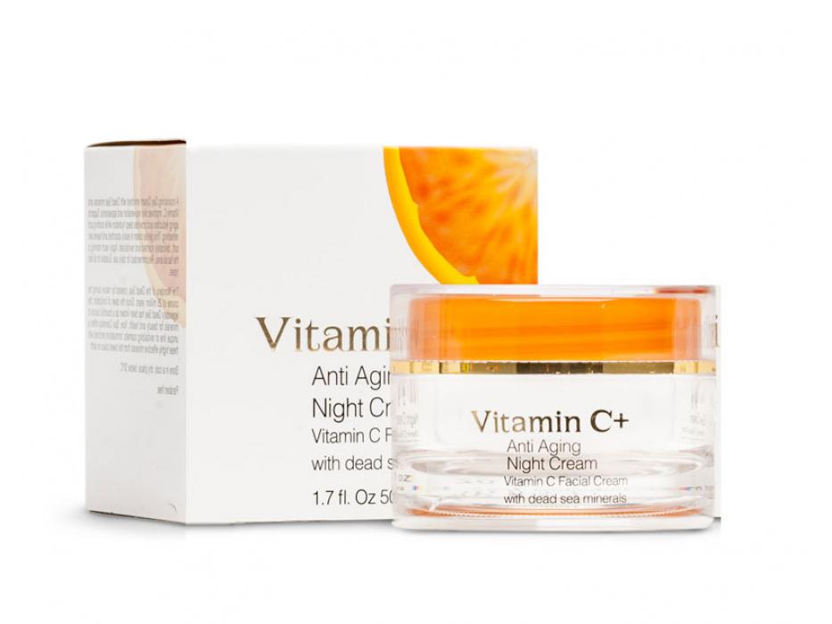 Dead Sea Spa Cosmetics Anti Aging Vitamin C Night Cream