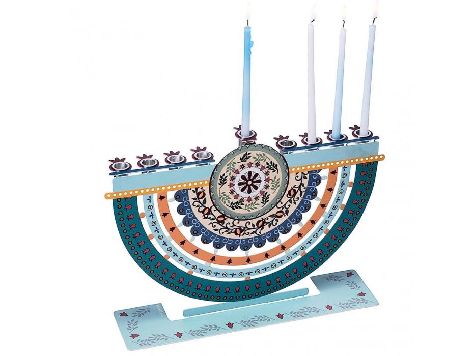 Dorit Judaica Hanukkah Candles Menorah Pomegranates