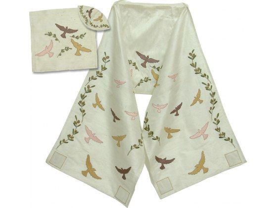 Doves and Olive Branches Rikmat Elimelech Prayer Shawl